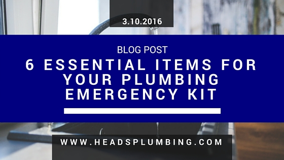 Do it yourself archives heads plumbing sales and service inc 6 essential items for your plumbing emergency kit solutioingenieria Choice Image